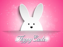 Happy Easter Rabbit Bunny on Pink Background Royalty Free Stock Photos