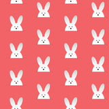 Happy Easter Rabbit Bunny Pink Seamless Background Royalty Free Stock Images