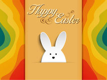 Happy Easter Rabbit Bunny on Rainbow Background Royalty Free Stock Photo
