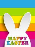 Happy Easter Rabbit Bunny on Rainbow Background Royalty Free Stock Images