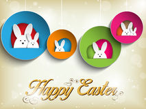 Happy Easter Rabbit Bunny on Retro Background Stock Images
