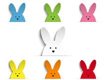 Happy Easter Rabbit Bunny Set Cartoon Stock Photography