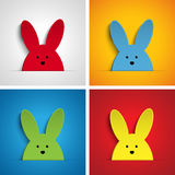 Happy Easter Rabbit Bunny Set Cartoon Stock Image