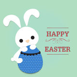 Happy easter rabbit carry egg Stock Images