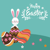 Happy easter rabbit egg festive. Illustration eps 10 Royalty Free Stock Photography