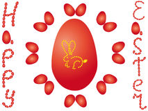Happy easter rabbit Stock Images