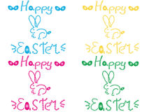 Happy easter rabbit Stock Photos