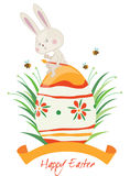 Happy easter rabbit Royalty Free Stock Image