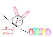 Happy Easter_Rabbit stock images