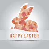 Happy easter. Red bunny a happy Easter, pohldnice poster royalty free illustration