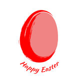 Happy Easter. Red egg on a white background. Royalty Free Stock Photography