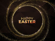 Happy Easter Red modern Background. Easter modern luxury background. Vector Easter creative design template. Modern Vector Easter Premium illustration.Black Royalty Free Stock Photos