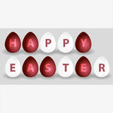 Happy easter from red and white eggs Royalty Free Stock Photography