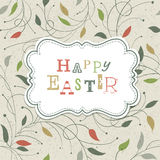 Happy Easter Retro Cute Greeting. Royalty Free Stock Photo