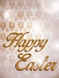 Happy Easter Retro Damask Background Stock Photography