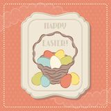 Happy Easter retro greeting card Royalty Free Stock Image