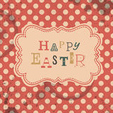 Happy easter retro greeting card. Stock Photos