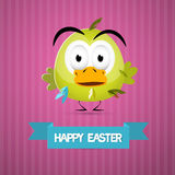 Happy Easter Retro Pink Background Royalty Free Stock Image