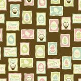 Happy Easter retro seamless pattern Stock Photography