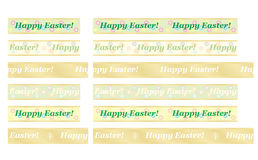 Happy Easter ribbons. Set of seamless Happy Easter ribbons Stock Photography