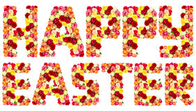 HAPPY EASTER, roses flower letters Stock Images