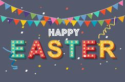 Happy easter`s day greeting card royalty free stock photos