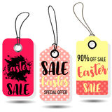 Happy Easter sale tags. Holiday labels set. Stock Images