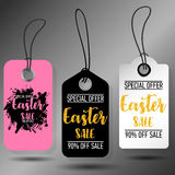Happy Easter sale tags. Holiday labels set. Royalty Free Stock Photography