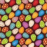 Happy Easter seamless background Stock Photography