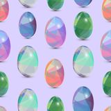 Happy Easter seamless background. 3d Eggs with the abstract, triangle pattern. Happy Easter seamless background. 3d Eggs with the abstract, triangle patterns Royalty Free Stock Photos