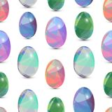 Happy Easter seamless background. 3d Eggs with the abstract, triangle pattern. Happy Easter seamless background. 3d Eggs with the abstract, triangle patterns Royalty Free Stock Images