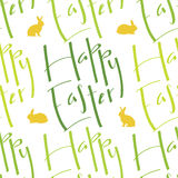 Happy Easter seamless pattern Stock Photos