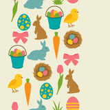 Happy Easter seamless pattern with decorative objects. Background can be used for holiday prints, textiles and greeting Stock Images