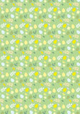 Happy Easter seamless pattern green. With eggs and plants Royalty Free Stock Image
