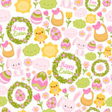 Happy Easter seamless pattern. Stock Images