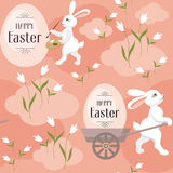 Happy easter seamless pattern Royalty Free Stock Image