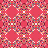 Happy Easter seamless pattern. With mandalas of colorful eggs. Vector illustration. All over print Stock Photo