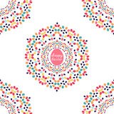 Happy Easter seamless pattern. With mandalas of colorful eggs. Vector illustration. All over print Royalty Free Stock Photos