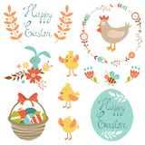 Happy Easter set Stock Image