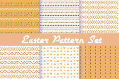 Happy Easter. Set of cute holiday backgrounds. Royalty Free Stock Photography