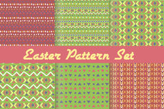 Happy Easter. Set of cute holiday backgrounds. Royalty Free Stock Photo