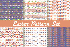 Happy Easter. Set of cute holiday backgrounds. Stock Image