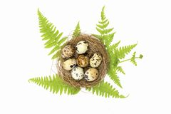 Happy Easter.Set of Easter eggs with different texture on a white background.Spring holiday. Vector foto .Happy easter eggs. On a white background.Spring holiday stock images