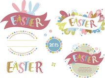 Happy easter - set of elements. And icons stock illustration