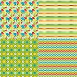 Happy Easter set of seamless patterns Royalty Free Stock Photo