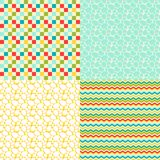 Happy Easter set of seamless patterns Stock Images