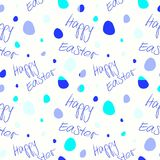 Happy Easter - Set of 4 seamless vector background patterns. Stock Photography