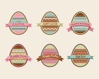 Happy Easter - set of stylish eggs icons Royalty Free Stock Image