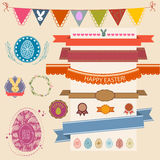 Happy Easter Set. Vector collection for Easter Design. Happy Eas Royalty Free Stock Photo