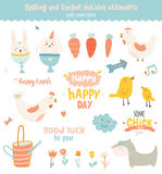 Happy Easter set in vector Stock Images